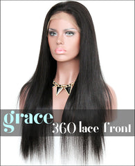 360 Lace Wig:Silky Straight 150% Density Wigs