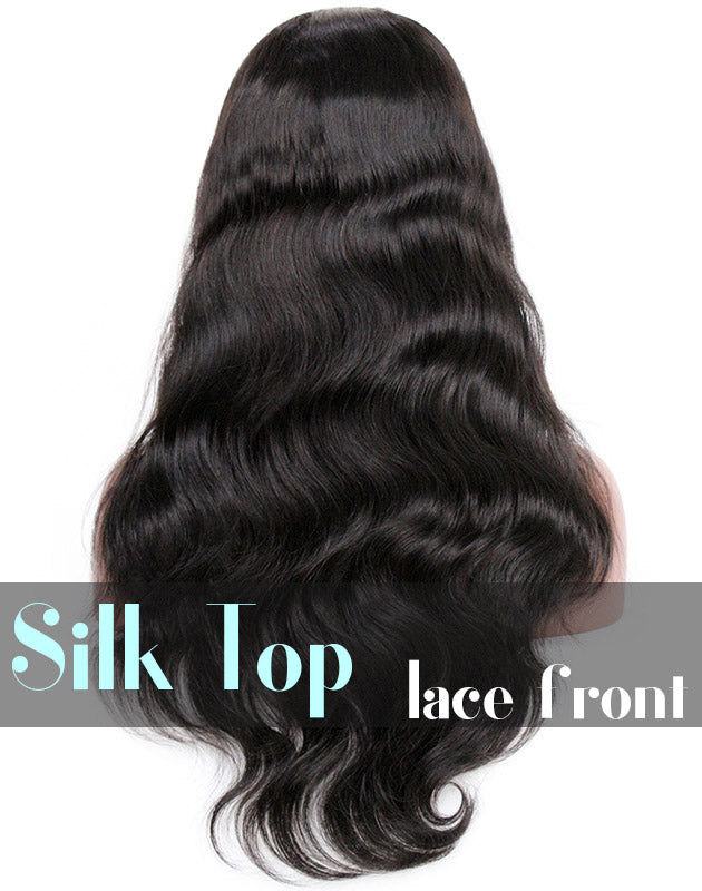 Glueless Silk Top Lace Front Wig: Body Wave