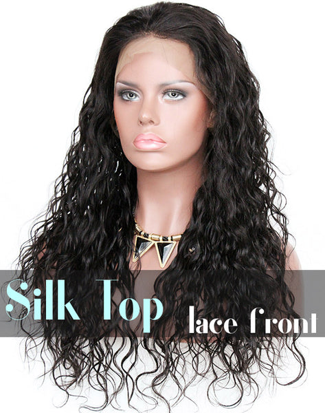Glueless Silk Top Lace Front Wig: Loose Curl