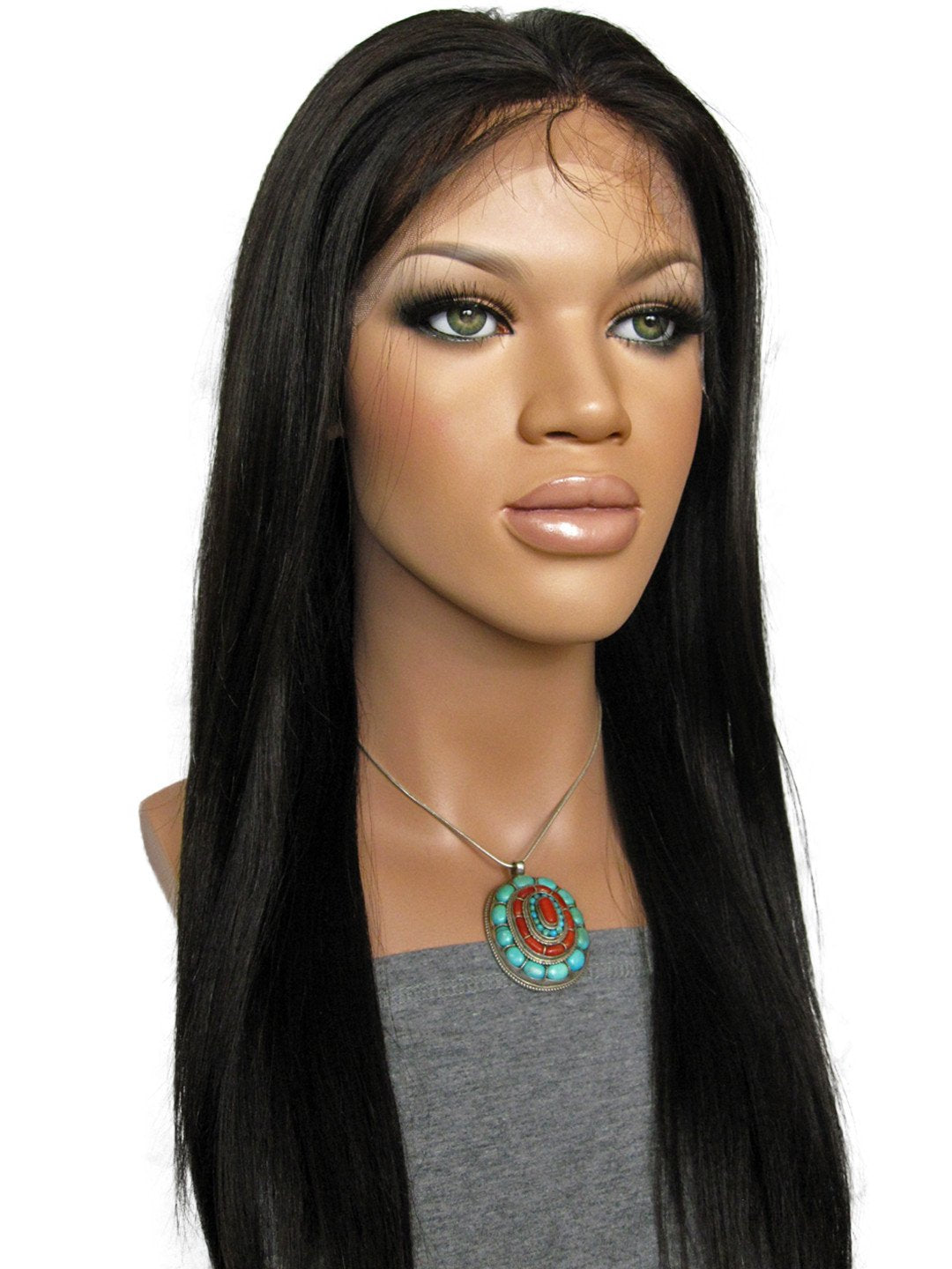 LACE FRONT WIG: Violette Light Yaki Indian Remy