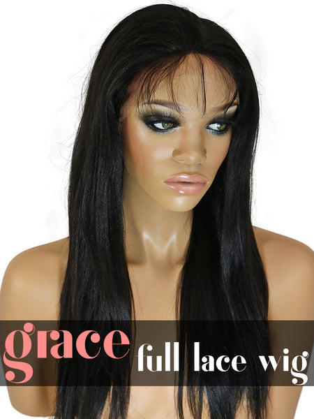 FULL LACE WIG: Yaki Straight
