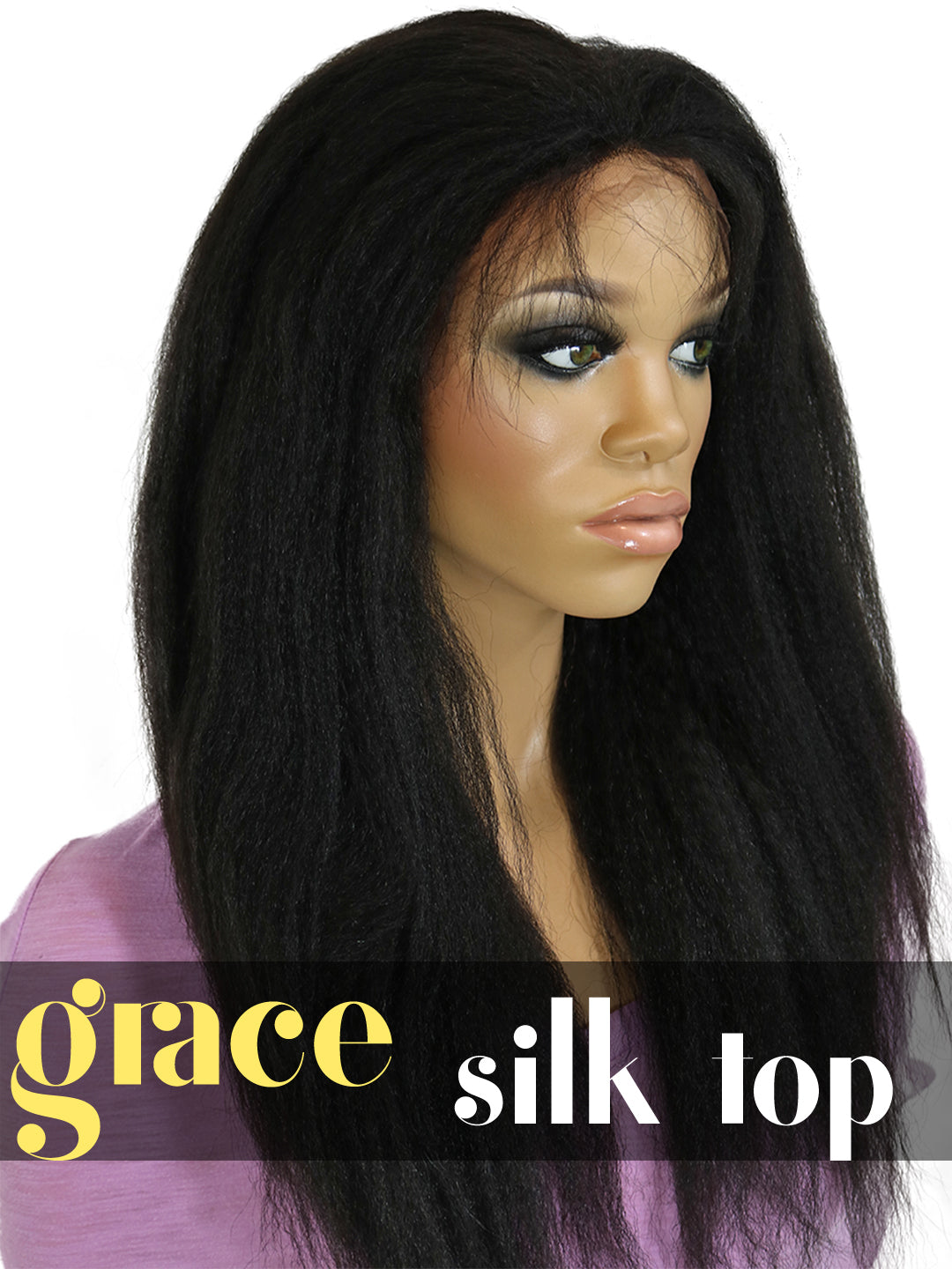 SILK TOP LACE WIG: Italian yaki