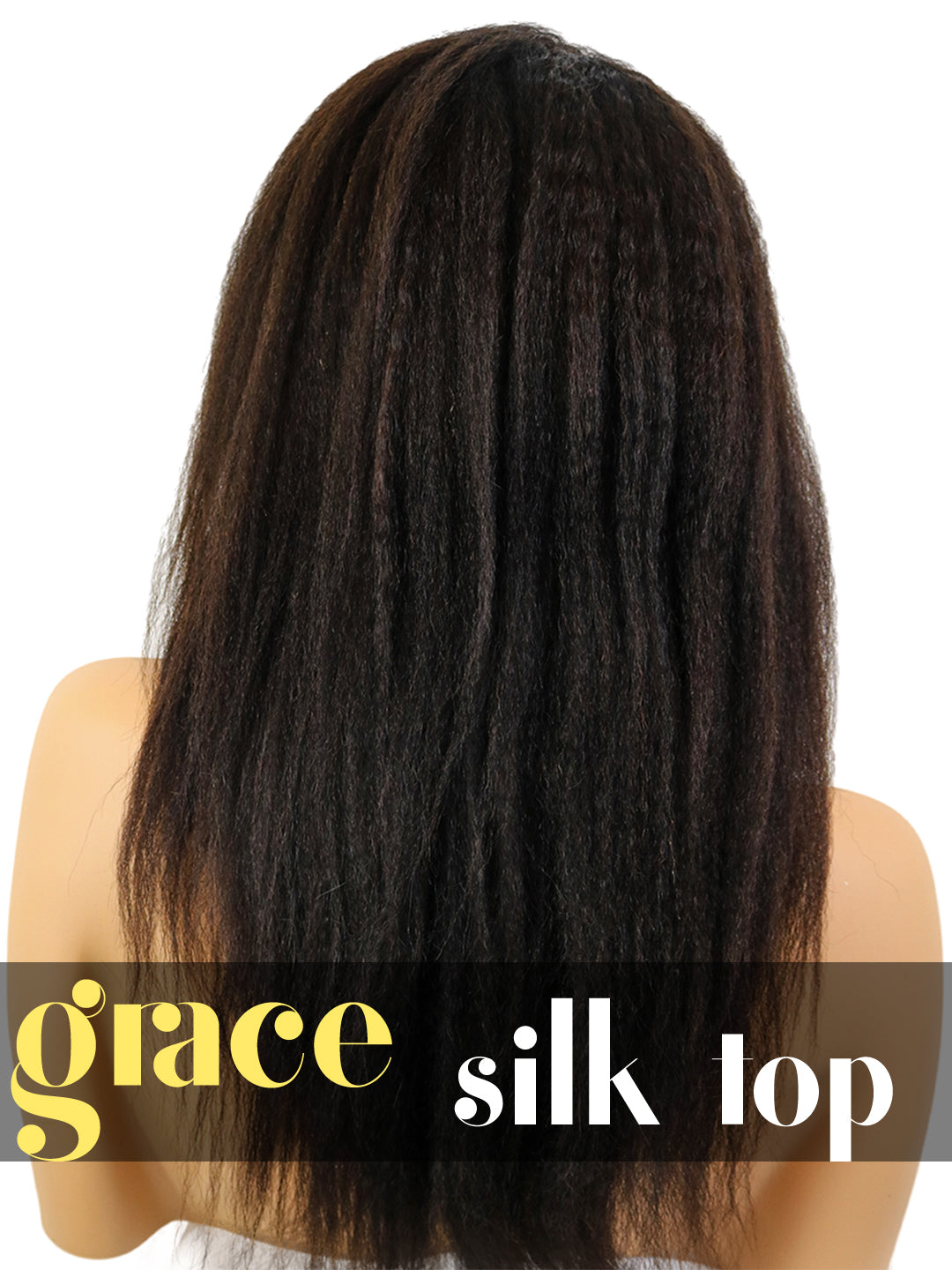 SILK TOP LACE WIG: Kinky Straight