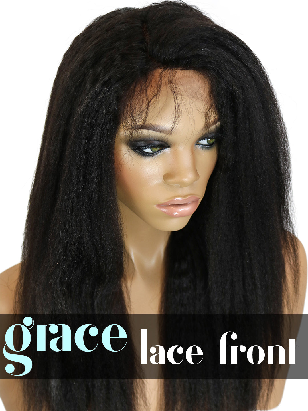 LACE FRONT WIG: Kinky Straight