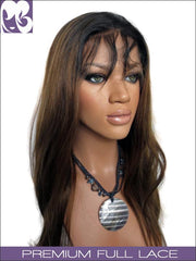 FULL LACE WIG: Sparrow Straight Brown W Dark Roots