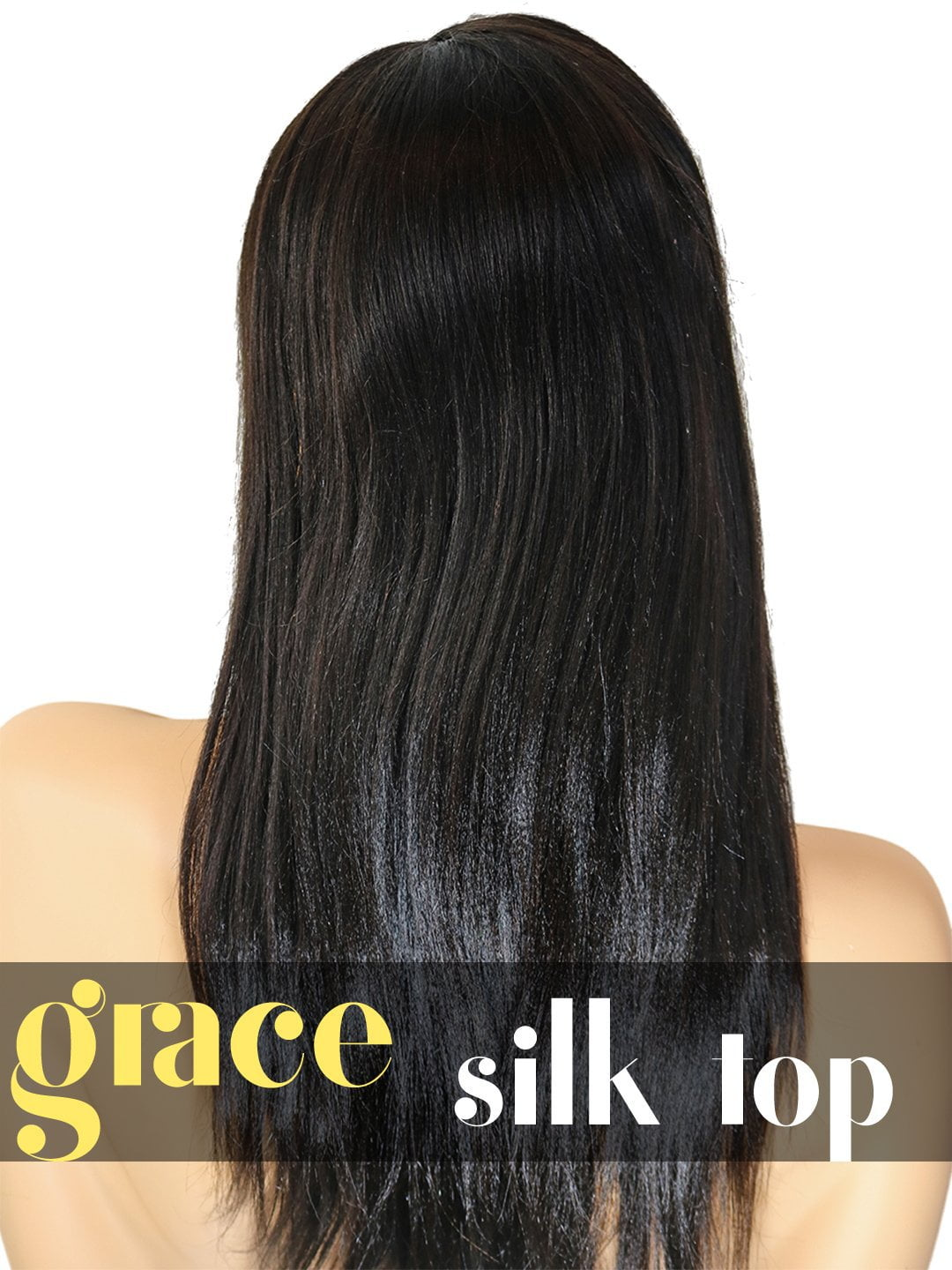 SILK TOP LACE WIG: Yaki Straight