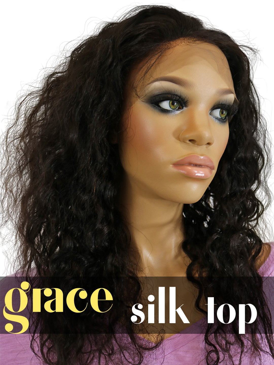 SILK TOP LACE WIG: Brazilian Curl