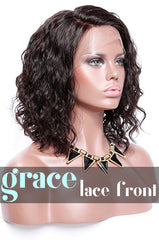 LACE FRONT WIG: Short Curly Side Part Bob Wig 12