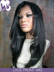 LACE FRONT WIG: Katherian Professionally Cut Yaki Indian Virgin Remy