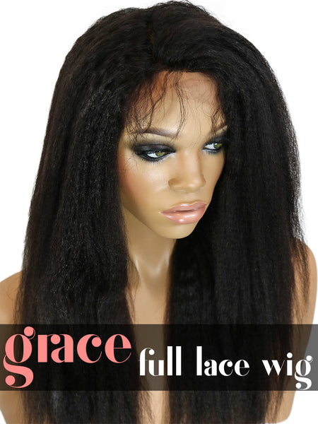 FULL LACE WIG: Kinky Straight
