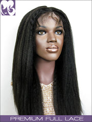 FULL LACE WIG: Pearl- Indian Remy Kinky Straight