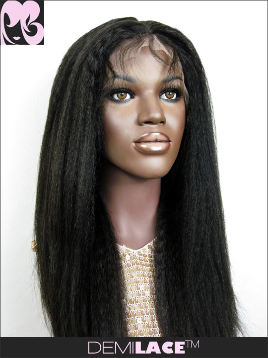 LACE FRONT WIG: Pearl Kinky Straight Indian Remy