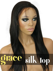SILK TOP LACE WIG: Virgin Straight