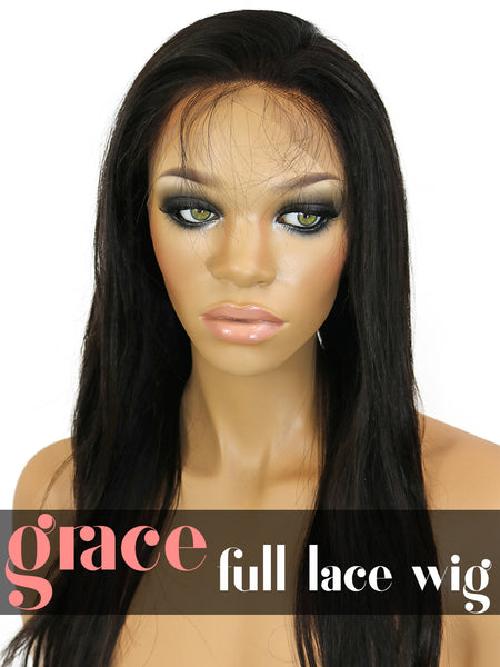 FULL LACE WIG: Virgin Straight