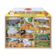 10 figurines d'animaux de safari miniatures