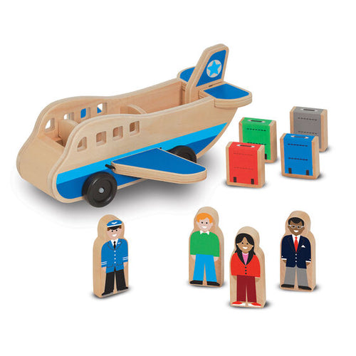 Avion en bois (9 pcs)