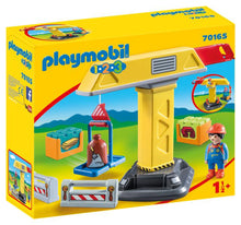 Playmobil 1 2 3 - Grue de chantier