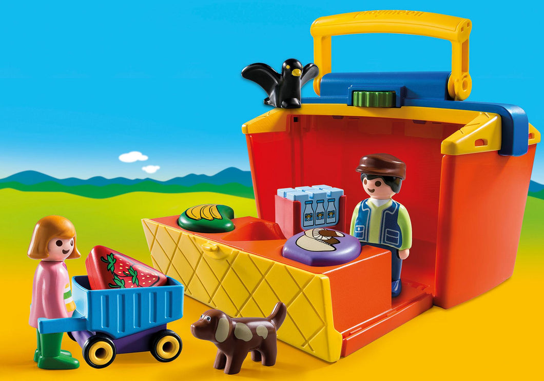 Playmobil 1 2 3 - Marché transportable
