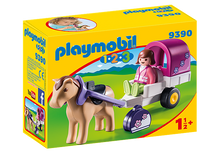 Playmobil 1 2 3 - Carriole avec cheval