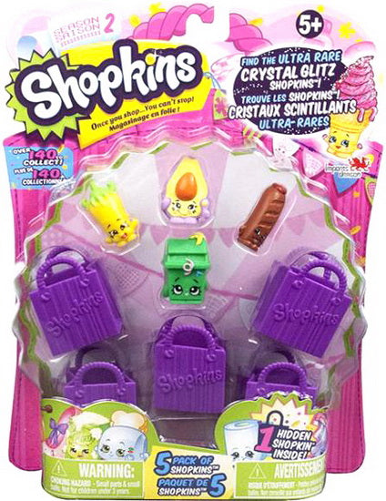 Shopkins - 5 figurines - Saison 2