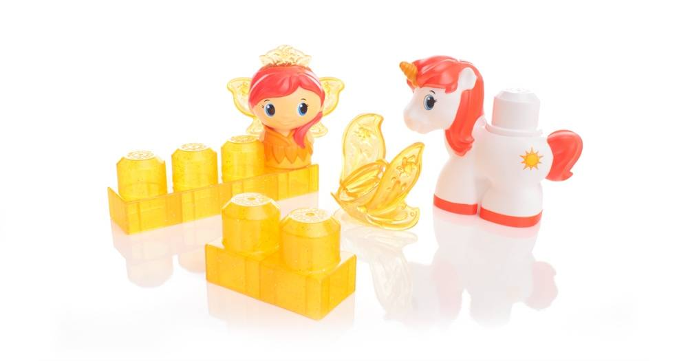 Princesse et sa licorne de Mega Bloks (5 pcs) - orange