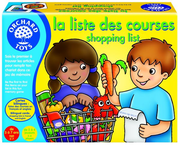 La liste des courses - Shopping list (jeu bilingue)