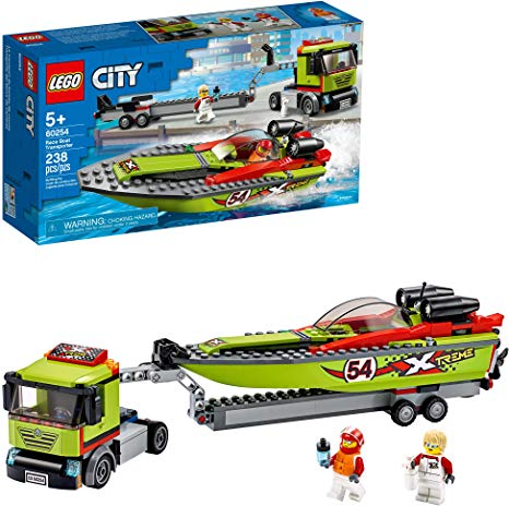 LEGO - City - Le transport du bateau de course