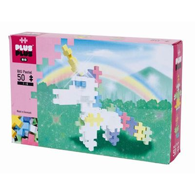 Plus Plus - Big Pastel - Licorne (50pcs)