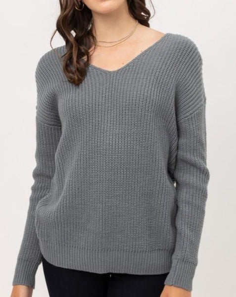 V-Neck Sweater *3 COLORS*
