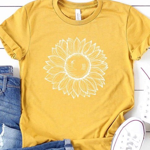 Sunflower T-Shirt in Yellow PLUS