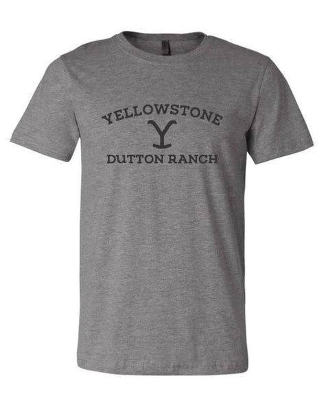 Yellowstone Dutton Ranch T-Shirt -Grey