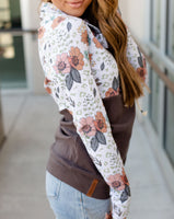 Wild Flowers Cowl Neck Sweatshirt