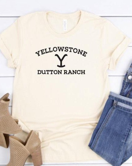 Yellowstone Dutton Ranch T-Shirt - Cream