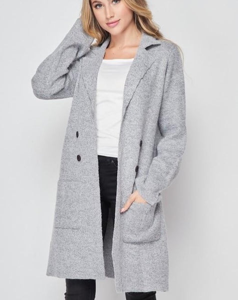 Grey Midi Cardigan *BEST SELLER*