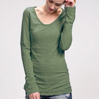 Button Cuff Long Sleeve - Olive