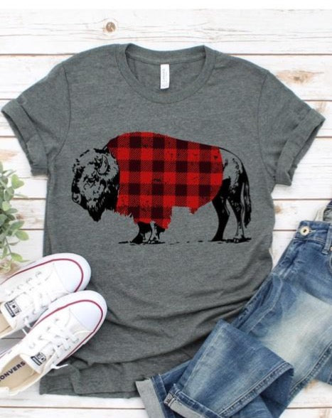 Buffalo Plaid Buffalo T-Shirt - Grey