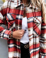 Garnet Plaid Flannel Shirt / Jacket