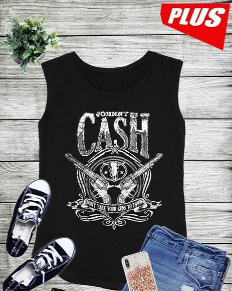 Johnny Cash Sleeveless Tank - *2 COLORS* XL/XXL