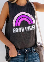Good Vibes Sleeveless Top in Purple