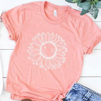 Sunflower T-Shirt in Coral