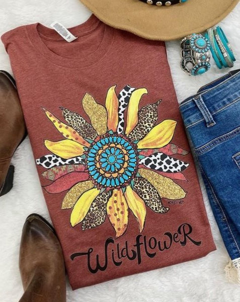 Wildflower T-Shirt - Clay