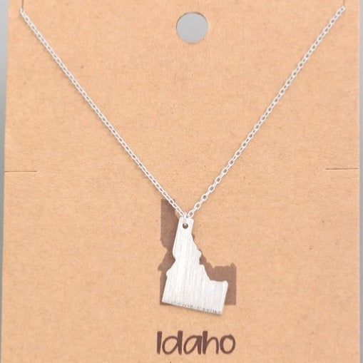 IDAHO Necklace GOLD or SILVER