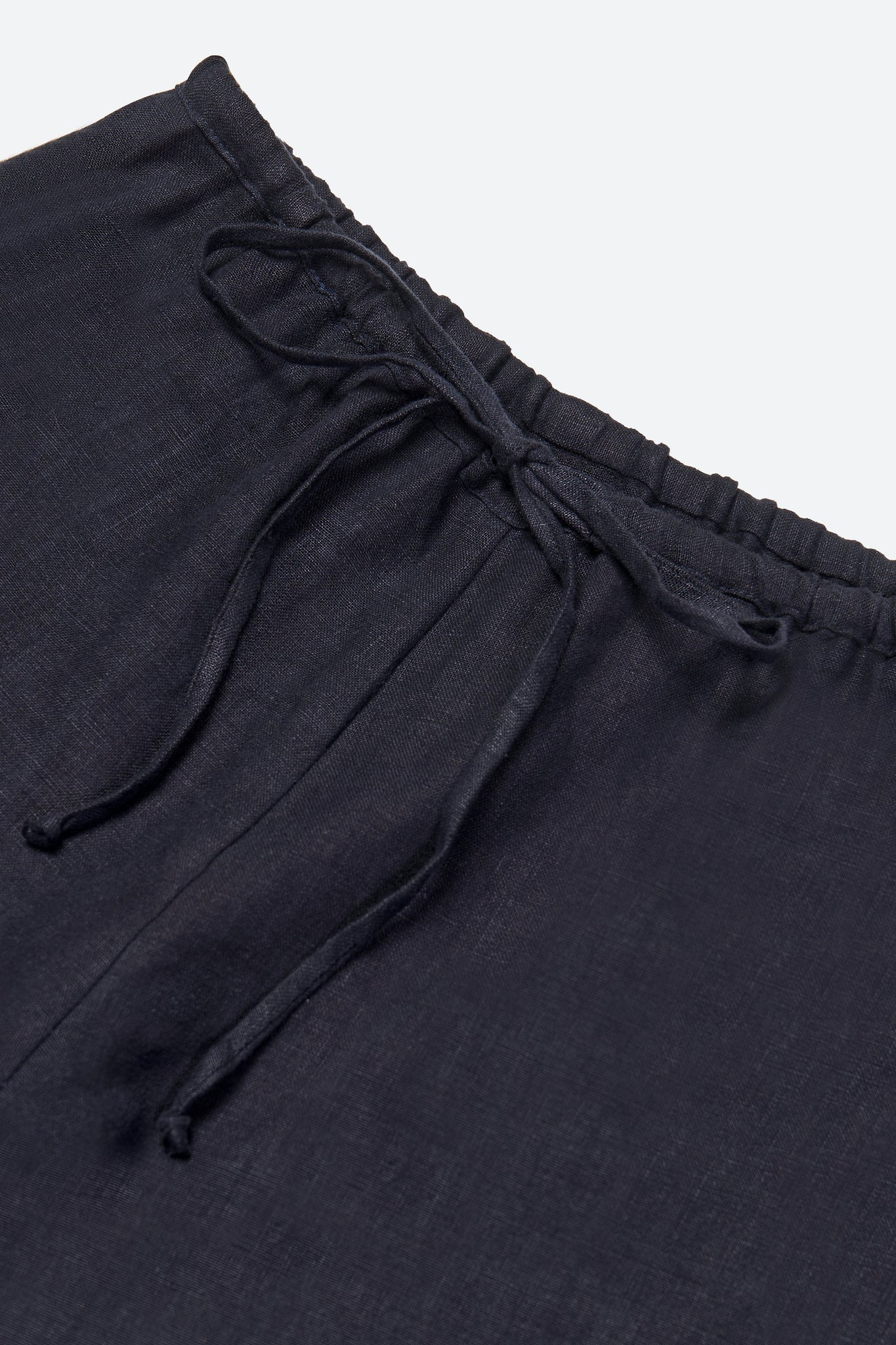 Linen and silk pants, dark blue