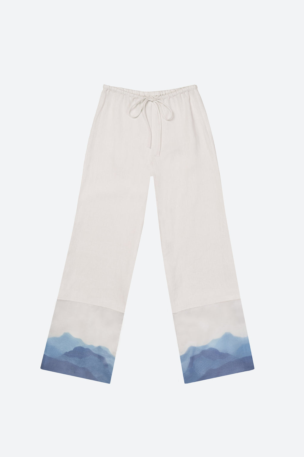 Linen and silk pants, ivory