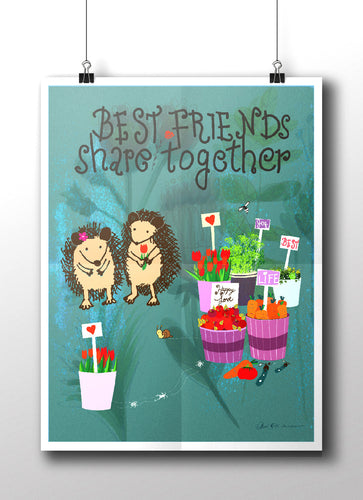 Best Friends Share Together | Art Print
