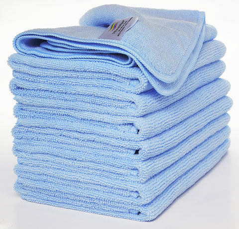 VibraWipe Microfiber Cloth, All-Blue, 8-Piece