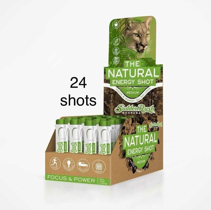 SuddenRush Medium Guarana Energy Shot - Guarana Natural Energy Shot Drink | Effective Energy Booster online | SuddenRush Guarana USA