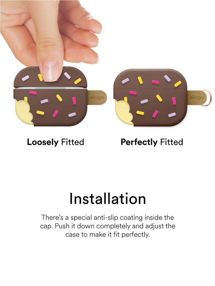 Load image into Gallery viewer, elago AirPods Pro Ice Cream Case: Chocolate