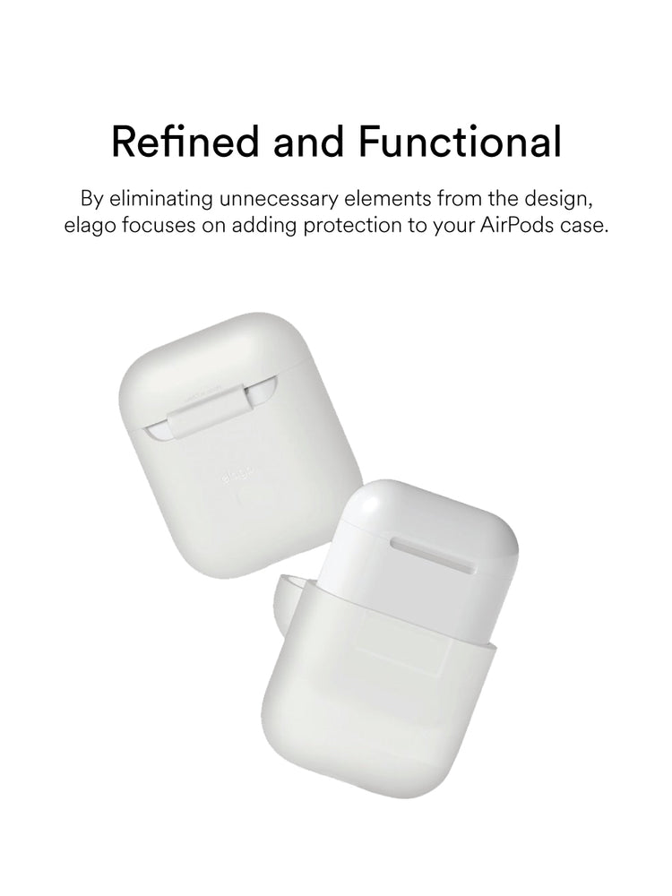 elago Airpods Silicone Case: Nightglow Blue
