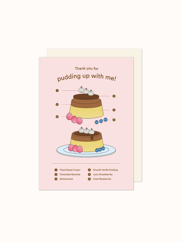 Greeting Card: Sweet Pudding